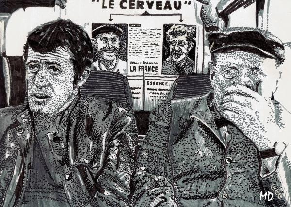 Bourvil, Jean-Paul Belmondo by Mathilde-DRACENA